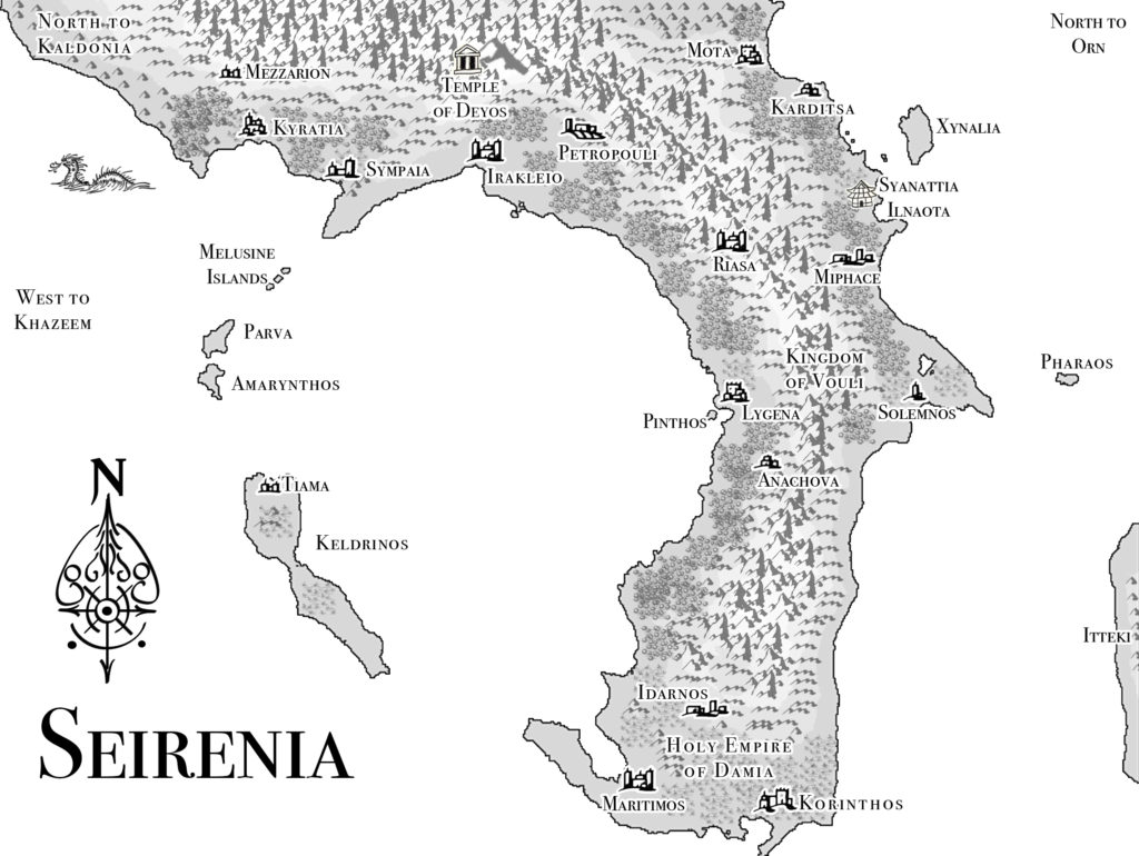 Map of Seirenia