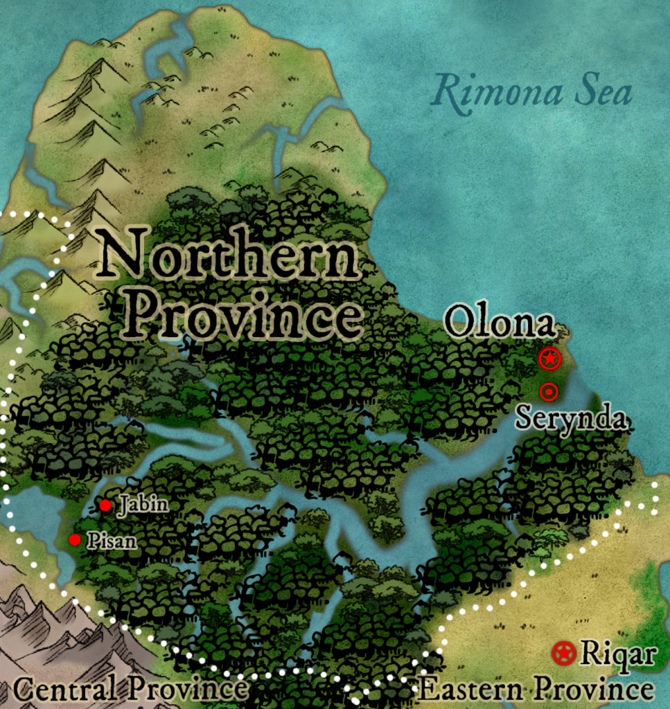 Map of the Northern Province