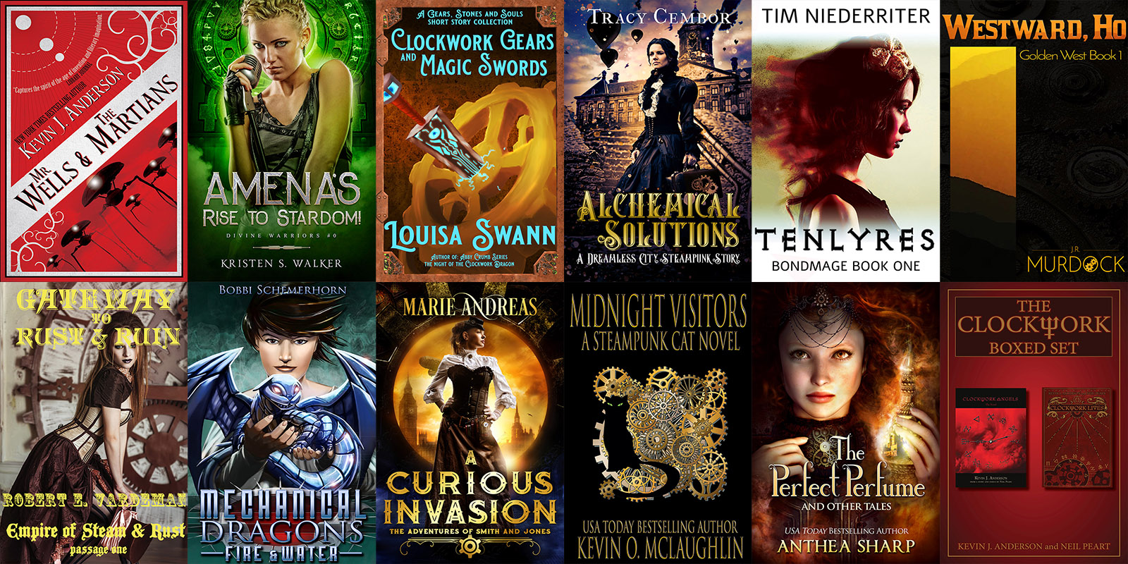 The Airships and Clockwork Steampunk StoryBundle