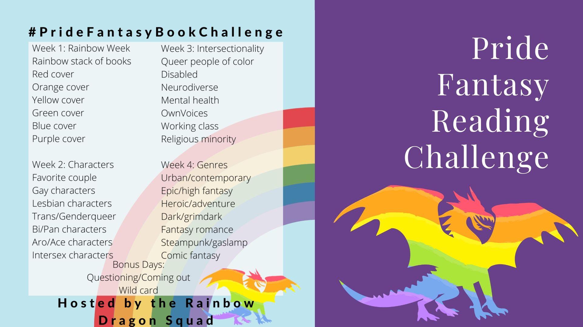 #PrideFantasyBookChallenge
