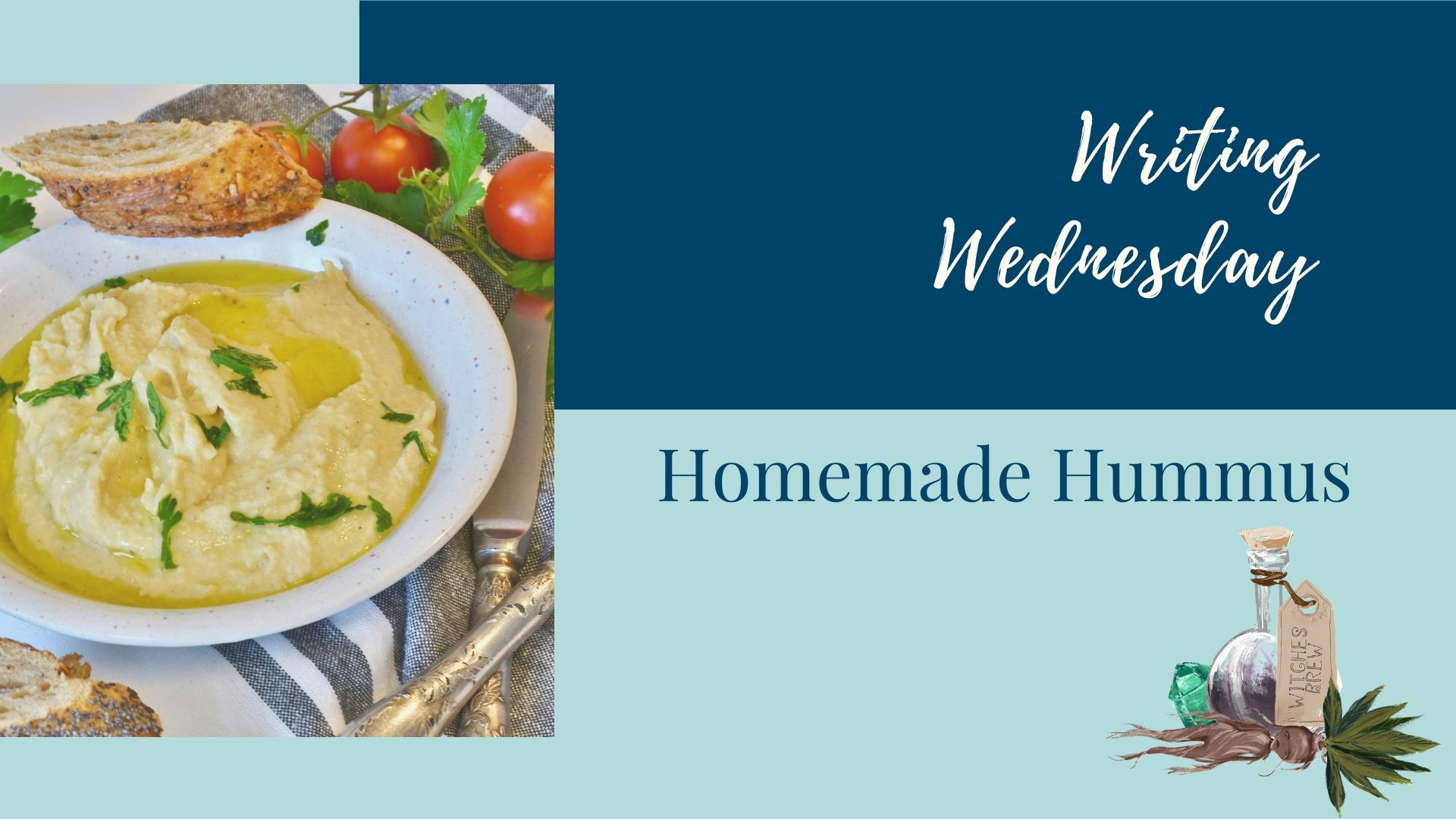 Writing Wednesday: Homemade Hummus
